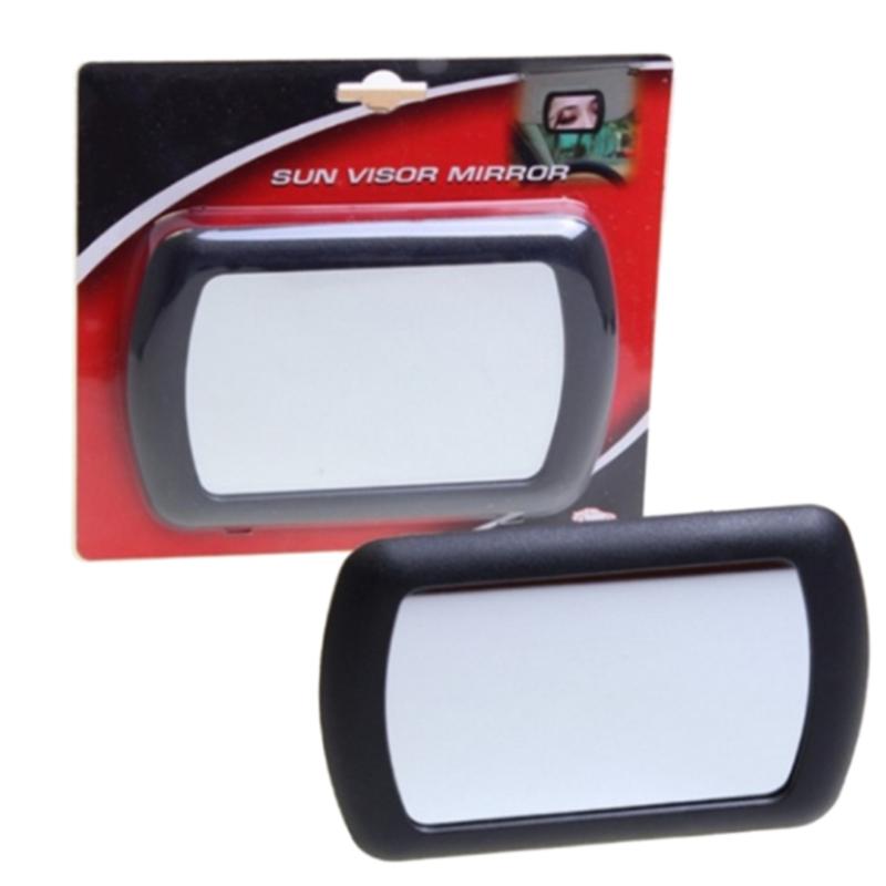 Black Clip on Car Sun Visor Vanity Mirror Sun-shading Cosmet