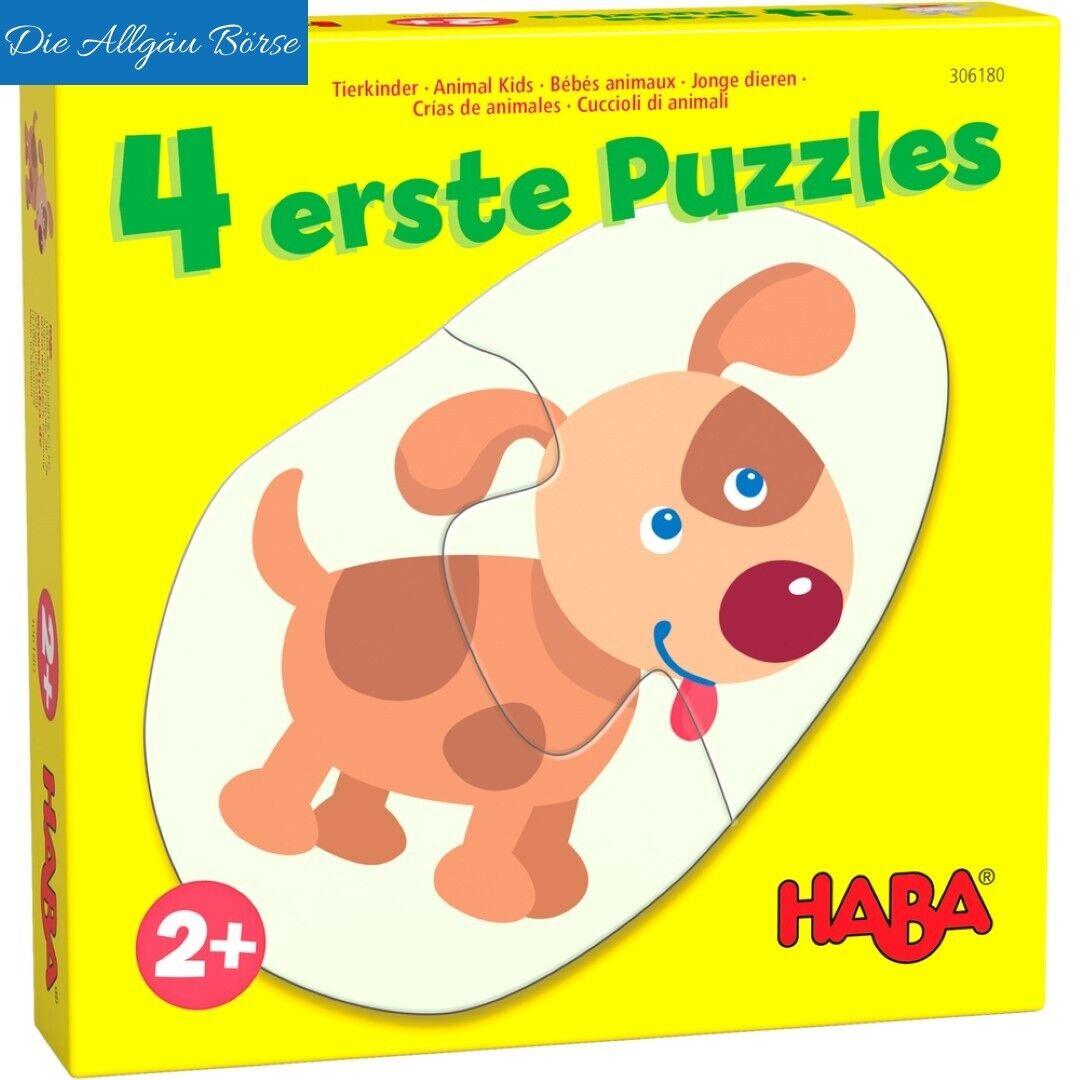 Haba 306183 4 erste Puzzles Tierkinder ab 2 Jahre Kinderpuzzle Lernspiel Neu OVP