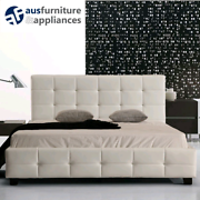 Brand new PU Leather Patterned Bed Frames in Black & White. South Yarra Stonnington Area Preview