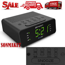 Emerson Smart Set Alarm Clock Radio with AM/FM Radio Dimmer Sleep Timer