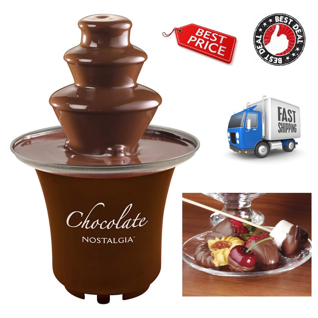 8-Ounce Chocolate Fondue Fountain Half-Pound Capacity 3-Tier