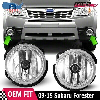 For Subaru Forester 09-13 Factory Bumper Replacement Fit Fog Lights Clear Lens 09 Factory Replacement