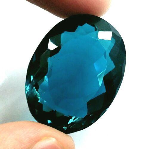 EGL Certified 62.50 Ct Oval Cut Natural Brazilian Blue Topaz Loose Gemstone