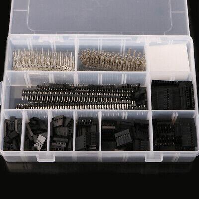 1450pcs 2.54mm Dupont Connector Kit Pcb Headers Male Female Pins Electronics Fs