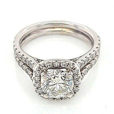 1.80ctw Natural Diamond Round Halo Engagement 14K White Gold Ring (50009713)