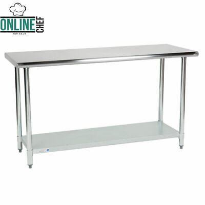 24 X 60adjustable Table Work Prep Undershelf Restaurant Indoor Stainless Steel