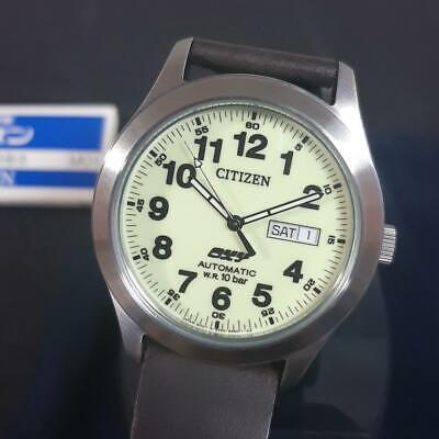 Citizen Day Date Stainless Steel Oxy Automatic Mens Watch Authentic Working