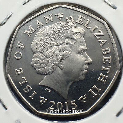 2015 T.T. the Legends Diamond Finish 50p Coin without die letters