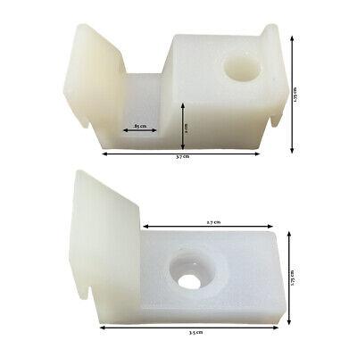 1 Pair of Sliding Shower Door Jamb Guide and Bumper Set - Sa