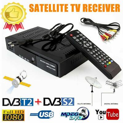 Smart Satelliten TV-Receiver HDTV DVB-T2+DVB-S2 FTA 1080P Decoder Tuner TA 1080p Smart Hdtv