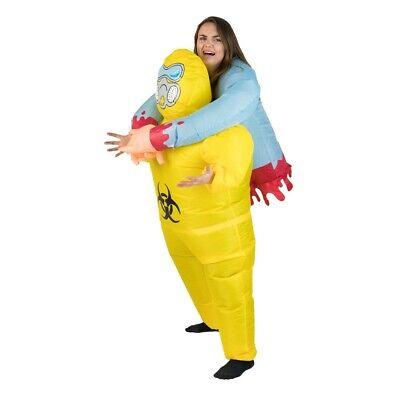 Adults Halloween Biohazard Horror Scary Scientist Inflatable Lift Up Costume](Biohazard Costume)