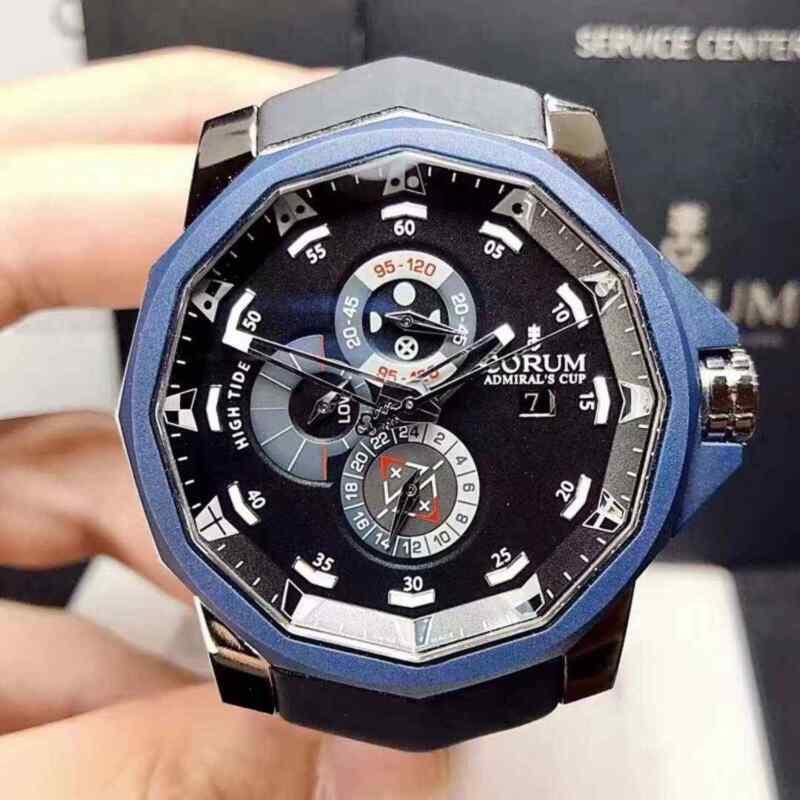 New Corum Admirals Cup A277/03438 Steel Titanium Bezel Automatic Men's Watch - watch picture 1