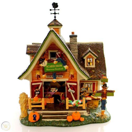 NIB Dept 56 Original Snow Village Scarecrow Harvest Festival House #799932