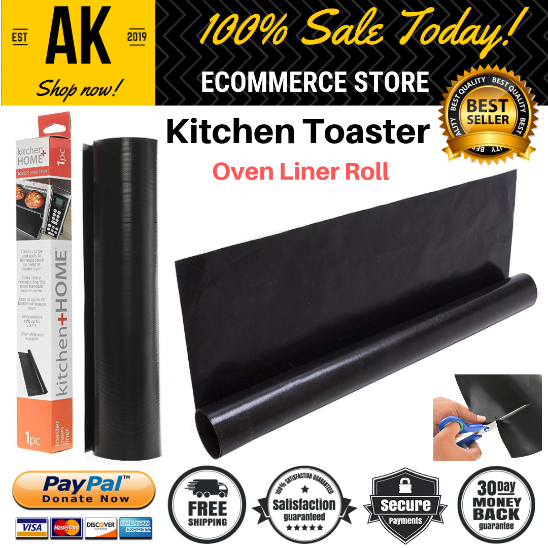 New Kitchen Toaster Oven Liner Roll Heavy Duty Of 11 x 13 In