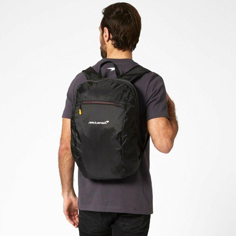 2021+McLaren+F1+Packable+Backpack+Rucksack+Bag+-+Genuine+Mclaren+F1+Merchandise