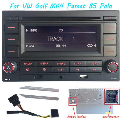 Autoradio RCN210 Bluetooth CD Player USB SD MP3 für VW Golf MK4 Passat B5 Polo