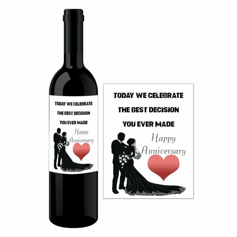 Personalised Wine Bottle Label For ANNIVERSARY FUNNY LOVE HUSBAND WIFE BL089