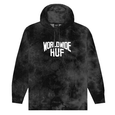 "HUF Worldwide ""Manhattan"" Pullover Hoodie (BK) Men's Hooded Tie Dye Sweatshirt"
