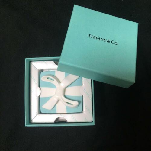 Tiffany & Co. Mini Bow Blue Box Tableware Ribbon Bone china Accessory Case Gift