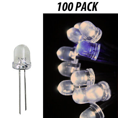 8mm Led Light Emitting Diodes Clear Component Warm White Lights 100 Pack