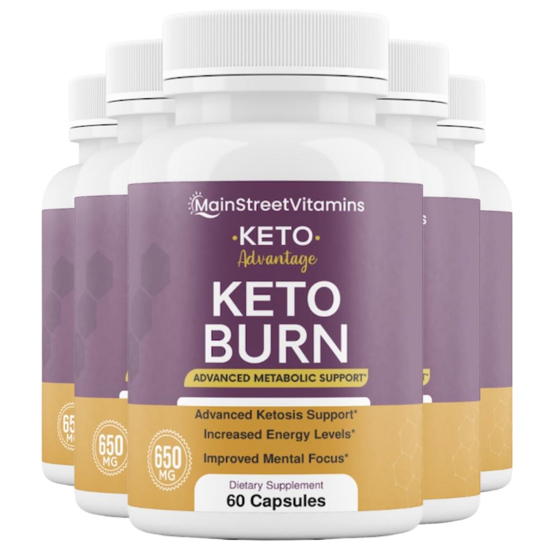 5 Keto Advantage Keto Burn - 60 Capsules -  300 Capsules - 5 Bottles