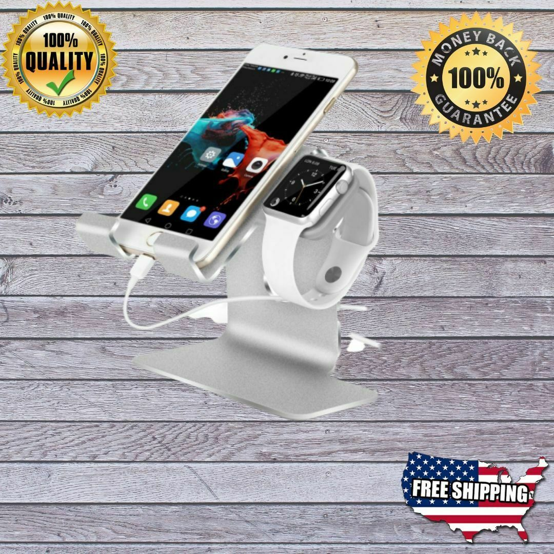 silver 2 in 1 charging stand