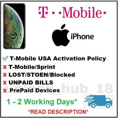 T- Mobile USA unlock Service Iphone 6 6s 6+ SE 7 7+ 8 8+ X XS 11 Clean imeis