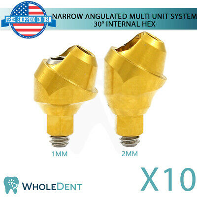 10x Narrow Angulated Abutment Multi Unit System 30 Dental Implant Internal Hex
