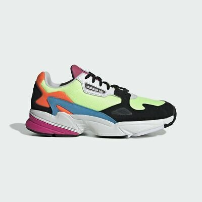 New Adidas Women's Falcon Shoes (CG6210)  Hi Res Yellow/Hi Res Yellow/Core Black