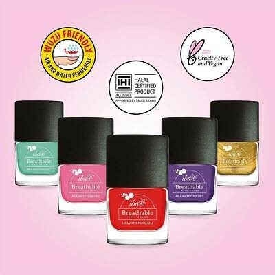 IBA Halal Nail Color Polish Breathable Air & Water Permeable 9 ml Free Shipping