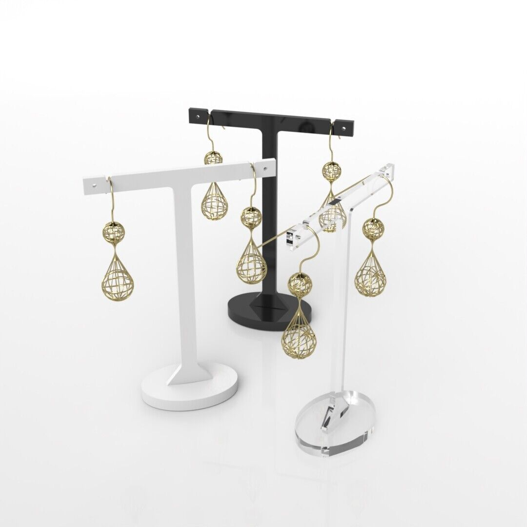 Jewellery - Jewellery Display Stand / Tall Acrylic Display Stand / Earrings Holder / Studs