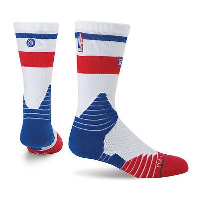 STANCE Core Crew NBA On-Court Performance Socks USA Red White Blue Men's MEDIUM Core Medium Crew Socks