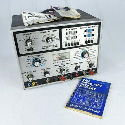 Vintage Sencore Va48 Tv-vtr-matv Video Analyzer Setup Book And Advertisements