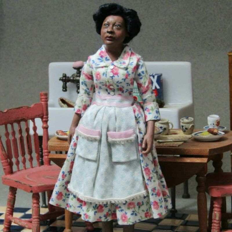 Miniature 1:12 ooak Dollhouse Doll By Artist Pauline Pugliese