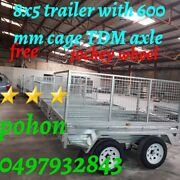 """In stock""""8x5 Hot Dipped Galvanised Tandem Box Trailer with Cage$2500 Noble Park North Greater Dandenong Preview"""