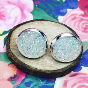 Nova Scotia - Handmade Earrings - Resin Glitter Studs -