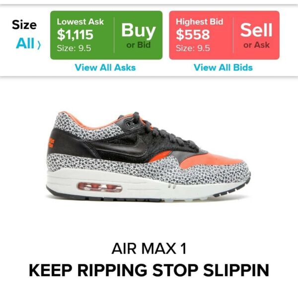 """purchase cheap 85092 b6cfe Nike Air Max 1 """"Stop Slippin keep Ripping"""" 2008   Men s Shoes   Gumtree  Australia Perth City Area - Perth   1208510839"""