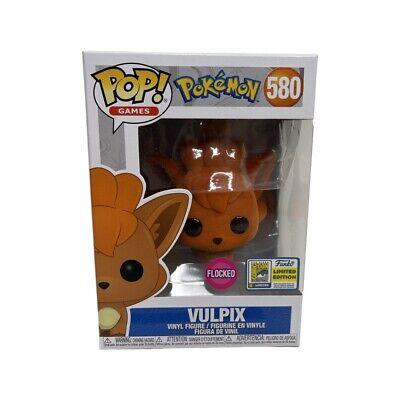 Funko Pop! Pokemon Vulpix Flocked #580 Funko 2020 SDCC Exclusive Sticker