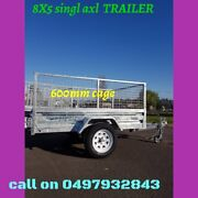 Now Trailer...8x5 Tandem Galvanised trailers with 600 Cage for S 🌟 Springvale Greater Dandenong Preview