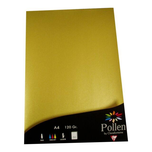 100 a4 goldenes papier clairefontaine metallic gold 120g | ebay, Einladung