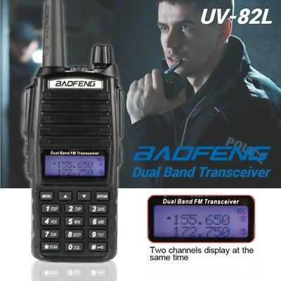 Baofeng UV-82L VHF/UHF 2m/70cm 2000mAh Two-way Radio Walkie Talkie + Earpiece