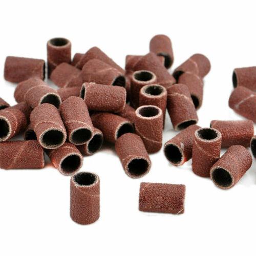 100pcs Nail Drill Sanding Bands Machine Replacement Bits File  #80 120# 180# US