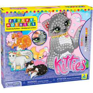 Set-de-manualidades-con-mosaicos-Cuadro-Gato-Gatito-PLAQUITAS-Multicolor