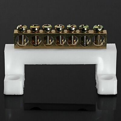 7 Positions Electric Cable Connector Screw Barrier Terminal Strip Block Bar Tool