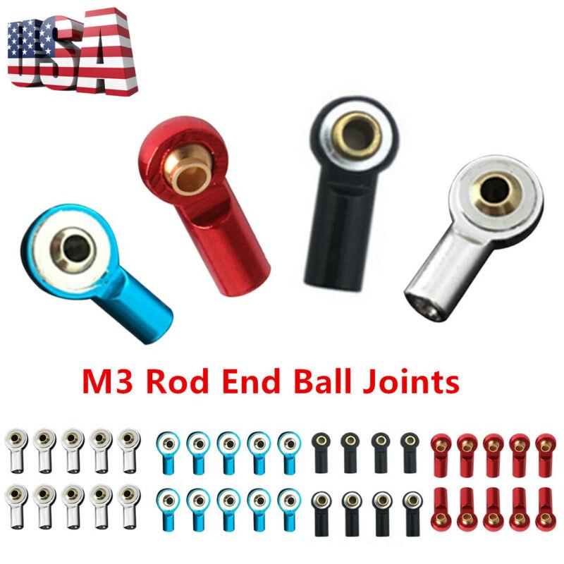 Car Parts - 5/20Pcs Aluminum Alloy M3 Link Rod End Ball Joints For 1/10 RC Crawler Car Parts