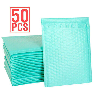 Durable Padded Envelopes 6x10 Bubble Wrap Mailers Poly Dvds Cds Teal Jewelry 0