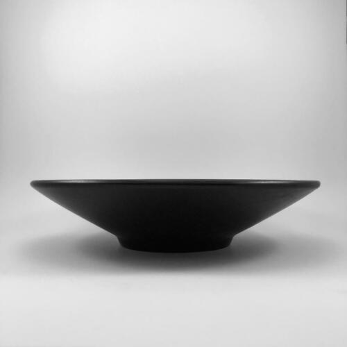 """Modernist BLACK Architectural Pottery Style 13"""" Planter Bowl or Centerpiece"""