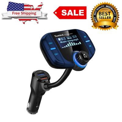 Sumind Car Bluetooth FM Transmitter, Wireless Radio Adapter