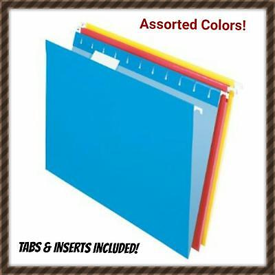 Pendaflex 95001 Letter Size 5 Tab Hanging File Folder Assorted Colors 20ct New