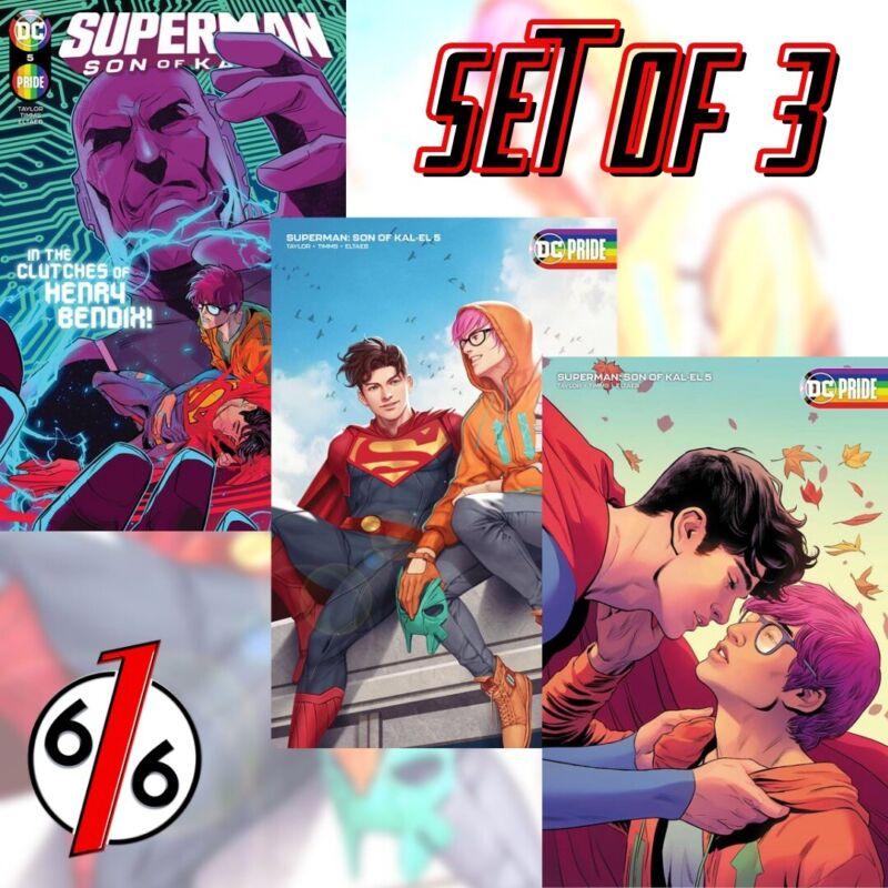 🚨💥 SUPERMAN SON OF KAL-EL #5 SET OF 3 Main Timms & B InHyuk Lee & C Moore 🔑
